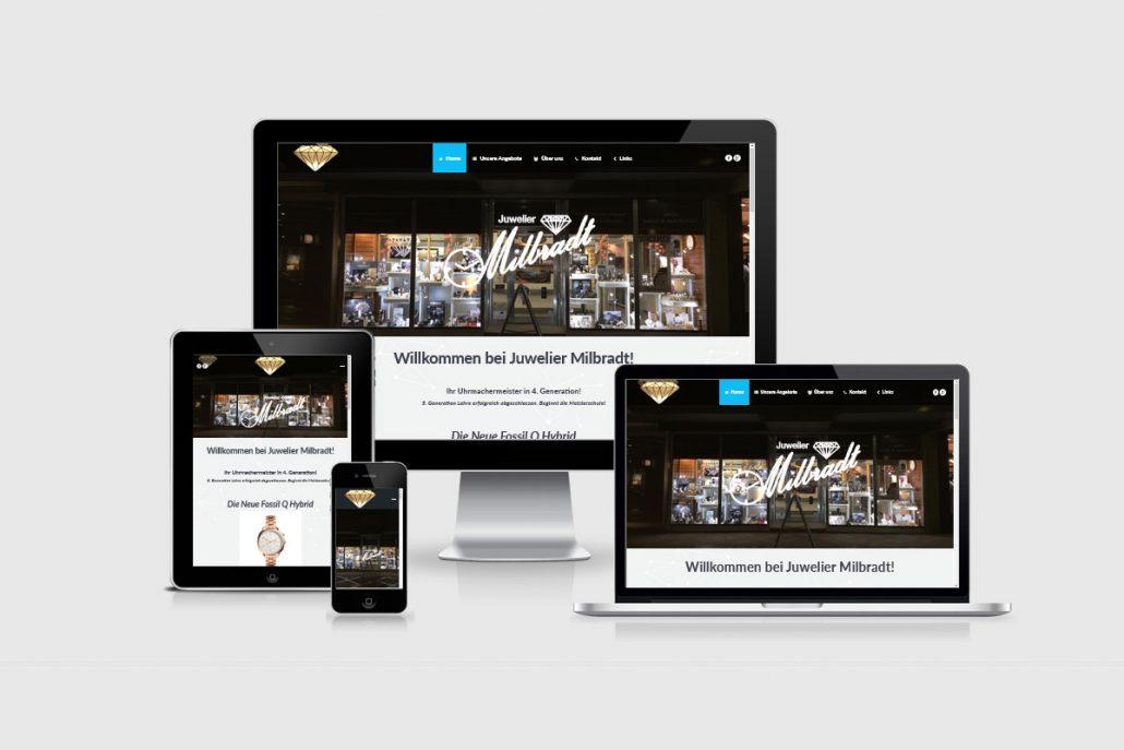 Senderek EDV Service - Referenzen - Webdesign - juwelier-milbradt.de