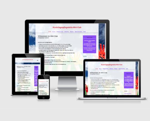 Senderek EDV Service - Referenzen - Webdesign - kindertagespflege-miniclub.de